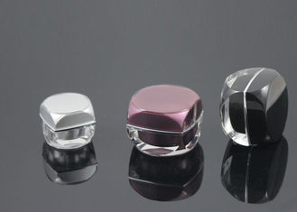 Black  Cream Cosmetic Packaging Containers With Jet Molding Technology