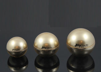 Shape Spherical Silver Border Plastic Jars With Lids With Gold