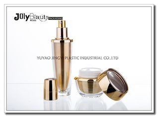 Inner Biliary Gold Shell Empty Cosmetic Bottles Transparent Body Capacity 60ml