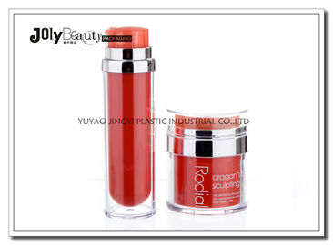 China PP Material Red Plastic Empty Makeup Containers Bottles Capacity 80ml supplier