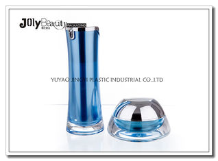 Blue Material PMMA Capacity 30ml Empty Makeup Bottles , Airless Pump Bottle
