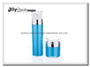 Cap Transparent The Bottle In The Blue Section Plating Silver Airless Pump Bottles