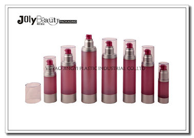 Cylindrical Cosmetic Airless Pump Bottles For Personal Care Packaging