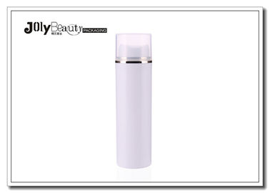 Round 50ml Serum Pp White Airless Bottle With Silk Printing / Hot Stamping