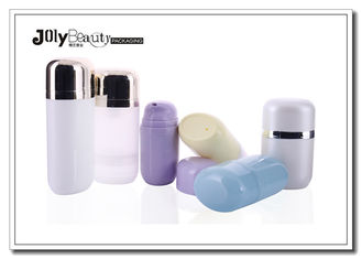 PP Plastic Oval Flat Airless Cosmetic Bottles 50ml With Unique Pump
