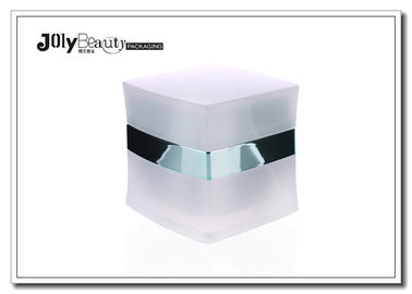 Luxury Cosmetic Cream Square Acrylic Serum Jar Plastic Jars With Lids