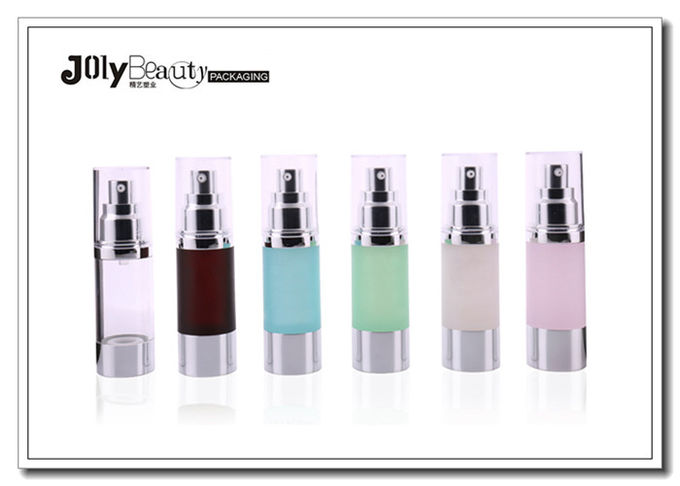 Cosmetic Clear ABS 15ml 30ml 50ml Airless Pump Bottles Plastic Airless Bottle